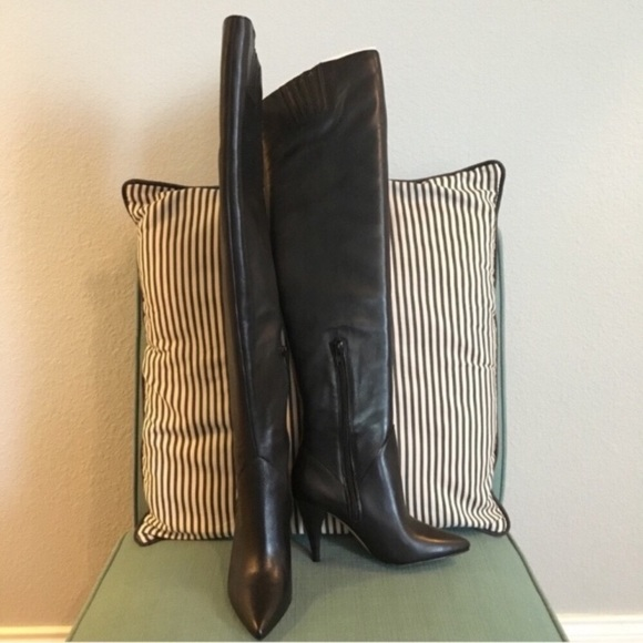 Aldo Shoes - NIB Aldo Kandice Black Heeled Leather Boot Size 6